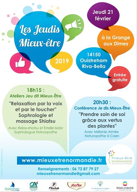 Conférence Mélanie Aimée Naturopathe à Caen du Jeudi 21 février: Prendre soin de soi grâce aux vertus des plantes